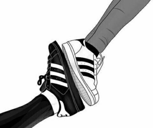 adidas, draw, and style image