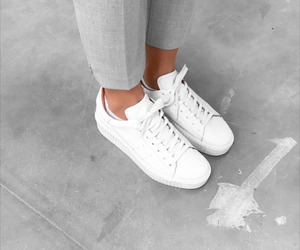 shoes, style, and white image