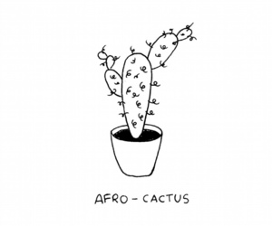 Afro, cactus, and creative image