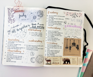 planner, bullet journal, and studying image
