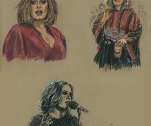 Adele, art, and singer songwriter image