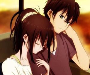anime, boy, and girl image