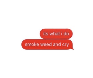 text and weed image