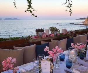 flowers, dinner, and luxury image