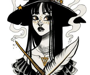 witch and drawing image