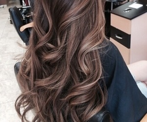 brown, brunette, and highlights image