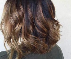 brown hair, brunette, and balayage image