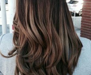 brunette, light, and balayage image