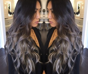 ombre and grey balayage image