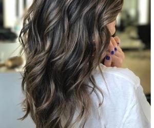 brunette, highlights, and balayage image