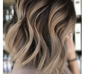 short hair and balayage image