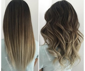 balayage and straight and curly image