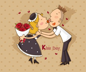 valentines day and kiss day image