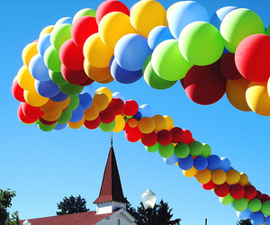 balloons, colorful, and photography image