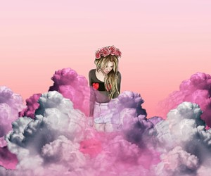 girly, pink, and backgrounds image