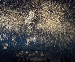 fireworks, new year, and new years eve image
