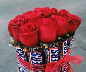 flowers, snickers, and love image