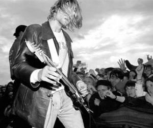 black and white, cobain, and kurt image