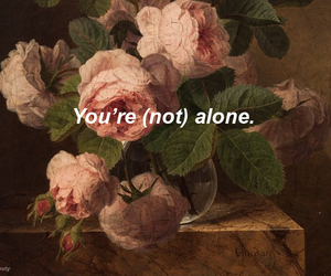 alone and words image