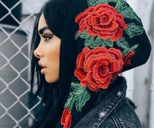fashion, girl, and rose image