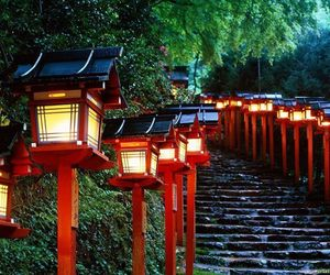 japan, light, and red image