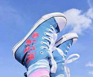 blue, aesthetic, and converse image