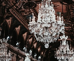 architecture, chandelier, and light image