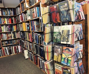 books, bookstore, and bookworm image