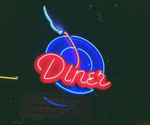 date, diner, and food image