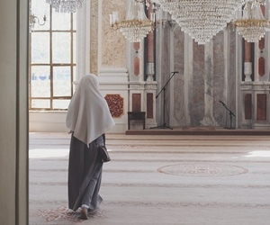hijab, mosque, and beauty image