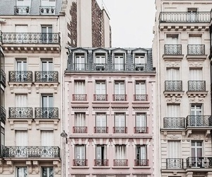 pastel, city, and pink image