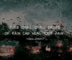 book, pain, and rain image