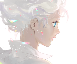 anime, art, and white image