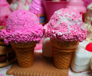 ice cream and pink image