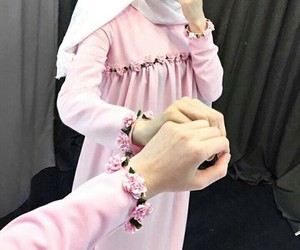 flower, hijab_style, and girl image