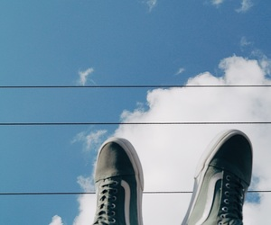 blue, shoes, and clouds image
