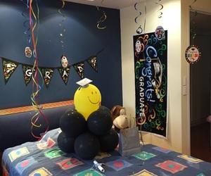 decoration, graduation, and room decoration image