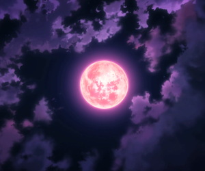 anime, magic, and moon image