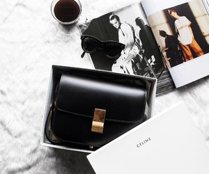 celine, bag, and coffee image