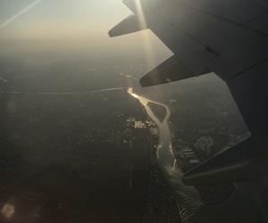 airplane, view, and fly image