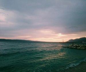 clouds, Croatia, and green image