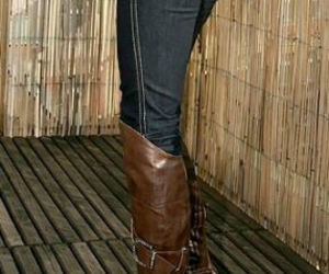 boots, high heels, and high heel boots image