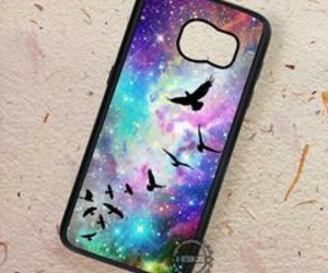 bird, galaxy, and black image