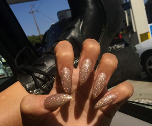 acrylic, glitter, and nails image