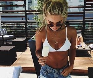 carefree, ice cream, and sunglasses image