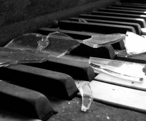 piano, broken, and glass image