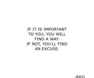 quote, excuse, and important image