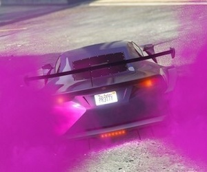 car, gta v, and pink image