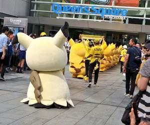 anime, asian, and pikachu image