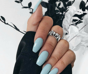 nails, accessories, and blue image